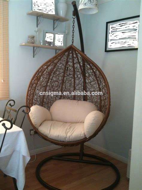 chaise pour chambre 2016 jardin en rotin fauteuil suspendu swing avec crème