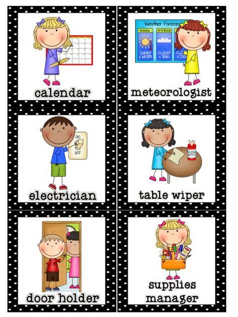 preschool positions mrs lirette s learning detectives classroom helpers set 866