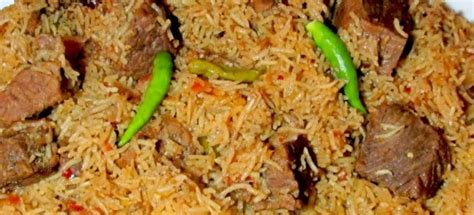 Yakhni Pilau (rice With Boiled Meat)