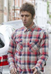 Liam Gallagher shows the strain as he returns home to