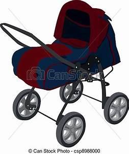 Wagen Für Kinder : vektor clipart von kinderwagen baby wagen f r kinder von 1 monat csp8988000 suchen ~ Markanthonyermac.com Haus und Dekorationen