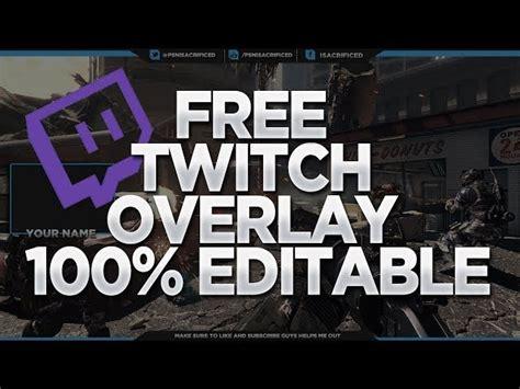 gfx  twitch overlay template  editable psd
