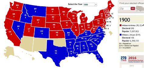 Republican And Democratic States Map.Democrat Vs Republican States Map 1960
