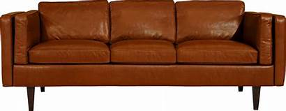 Sofa Couch Transparent Background Clipart Leather Modern