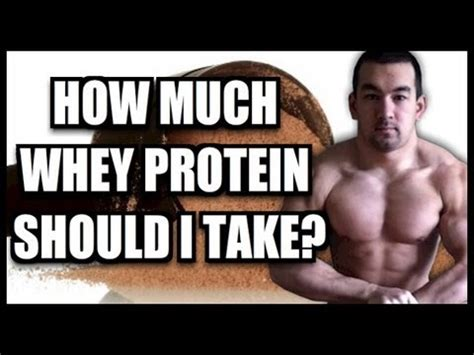 """""""how Much Whey Protein Should I Take?"""" Youtube"""
