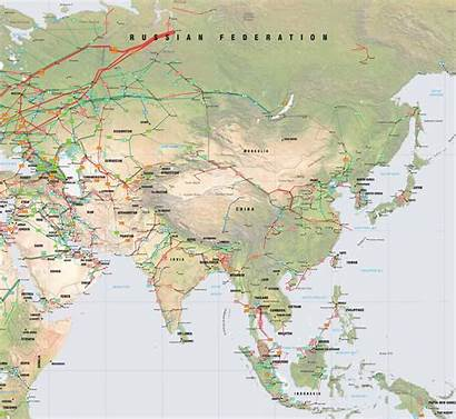 Map Asia Pipelines Oil Gas East Southeast
