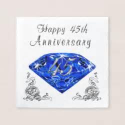 45th wedding anniversary gift 45th anniversary napkins zazzle