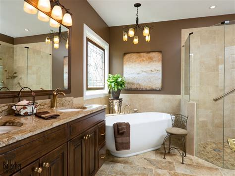 Beautiful Bathrooms Images With Contemporary Vanity With Brown Marble On Top And Copper Faucet