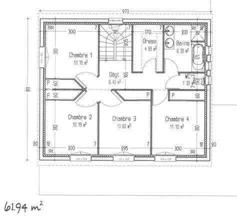 plan maison etage 4 chambres 1 bureau avis sur notre plan maison à étage avec 4 chambres 127m2