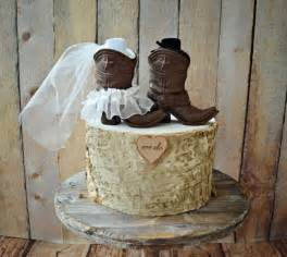 cowboy boots wedding cake topper country wedding rustic