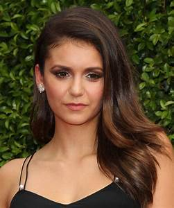 Nina Dobrev Long Straight Formal Hairstyle - Dark Brunette
