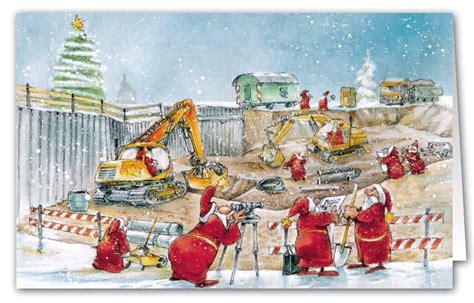 witzige branchenkarte als weihnachtskarte fuer tiefbau und