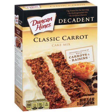 duncan hines decadent classic carrot cake mix  oz