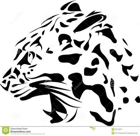 Head of panter cat stock illustration. Image of africa ...