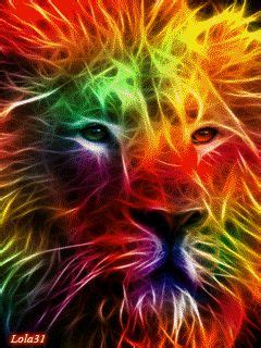 colorful neon lion neon colors neon signs