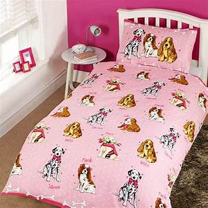childrens girls glamour dogs design single twin duvet With dog bedding for girls