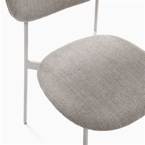 Mid-Century Modern Petal Upholstered Dining Chair | West Elm