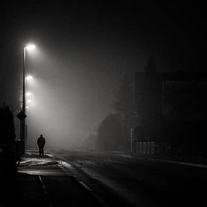 Free Images : cold, winter, black and white, fog, night ...