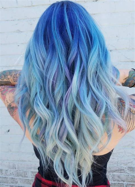 Ocean Hair Trend Is Taking Blue Hair To The Next Level In