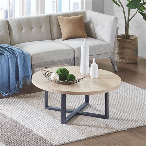 Collection by modern furniture design. Vallejo Coffee Table Solid Wood, Metal, Oak, Mid-Century Modern Brown INK+IVY