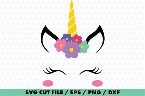 Unicorn Face Unicorn Face Svg Unicorn Silhouette Unicorn