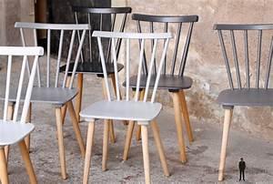 Chaise Bois Vintage : lot de 6 chaises vintage en bois du blanc au noir gentlemen designers ~ Teatrodelosmanantiales.com Idées de Décoration