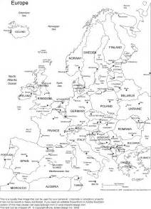 Printable World Map with Countries Europe
