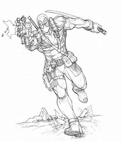 Deadpool Coloring Pages Colouring Printable Coloriage Dunbar