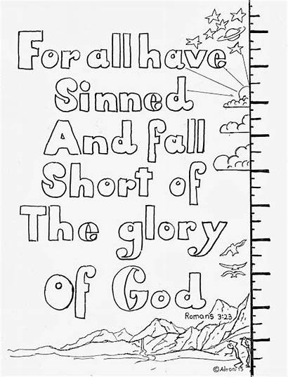 Romans Coloring Pages Bible Sparks Sinned Verse