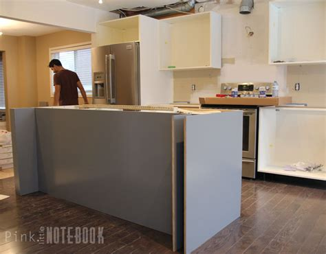 ikea base cabinets without legs creating an ikea kitchen island pink little notebookpink