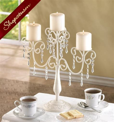 candle holder centerpiece 12 candelabra ivory bead candle holder table