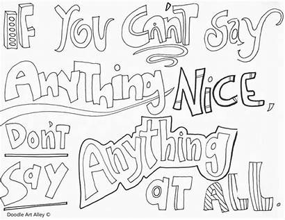 Bullying Coloring Pages Kindness Quotes Doodle Quote