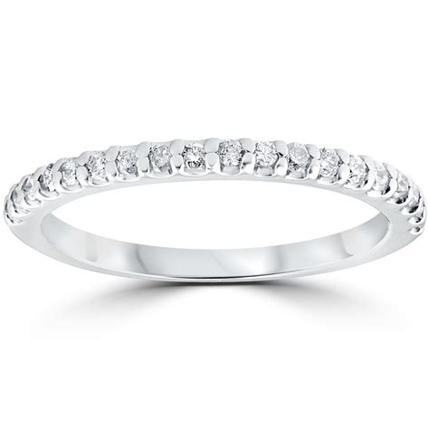 cttw diamond stackable womens wedding ring  white