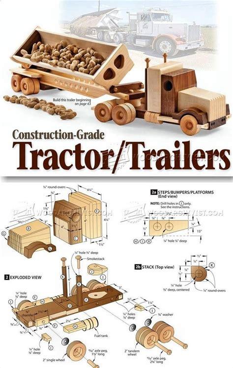 wooden truck  trailer plan childrens wooden