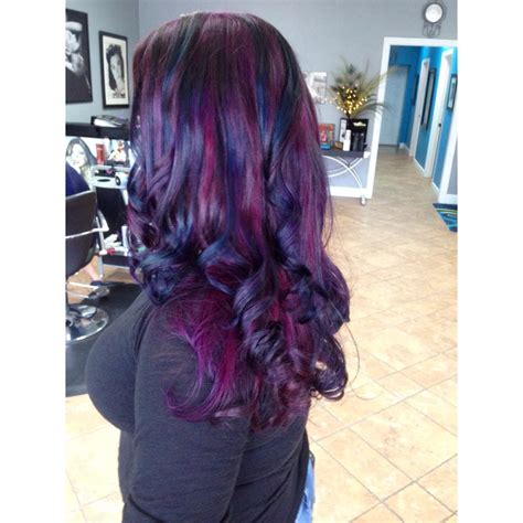 deep purple  midnight blue curls hair colors ideas