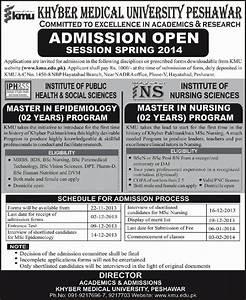 Nursing Info  Master In Epidemiology And Nursing In Kmu