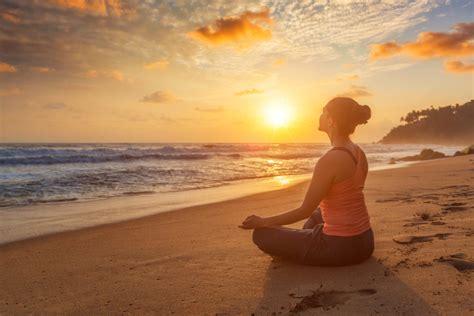 harmony inner ways three lotus beach yoga dolinsky geri pose woman