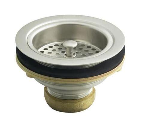 Kohler Kitchen Sink Stopper Replacement by Kohler K 8799 Brushed Nickel Sink Strainer Without