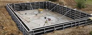 constructeur piscines beton coffrage With plan de piscine beton
