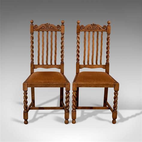 antique pair  chairs english oak dining antiques atlas