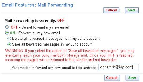 Mail Forwarding (juno Megamail