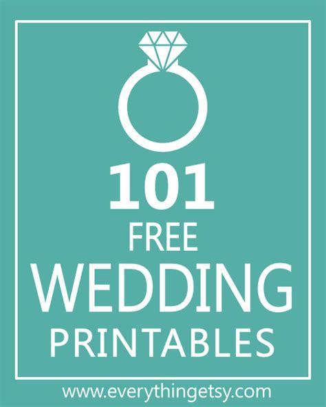 wedding printables  everythingetsycom