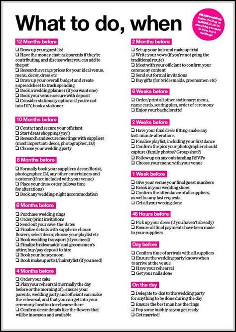 comprehensive wedding   list  perfect wedding