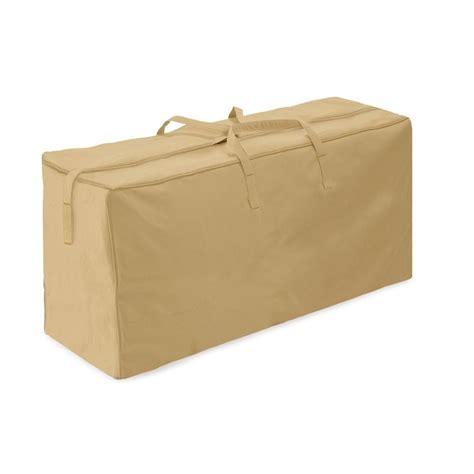 two dogs designs khaki patio cushion storage bag 2d