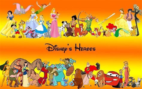 Heroes Of The Animated Wallpaper - disney characters wallpapers wallpaper cave