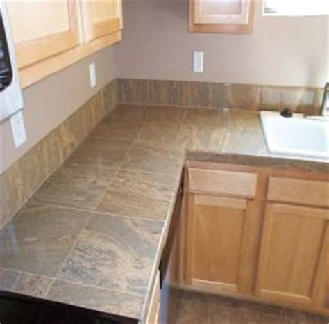 ceramic tile on countertops in kitchen 13 best images about tiled worktops on slate 9394