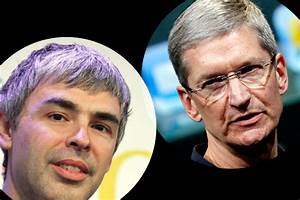 patent peace apple39s tim cook google39s larry page in With tim cook and larry page talking patent issues