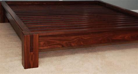 slatted walnut platform bed belak woodworking