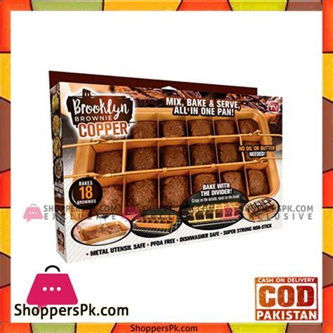 buy brooklyn brownie copper  gotham steel nonstick baking pan  built  slicer