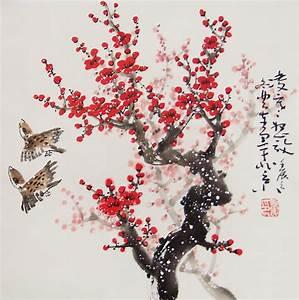 Cherry Blossom paintings Original chinese painting oriental